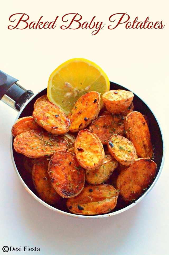 Baked Baby Potatoes Recipe | Oven Roasted Baby Potatoes ~ Baby Potatoes Recipe
