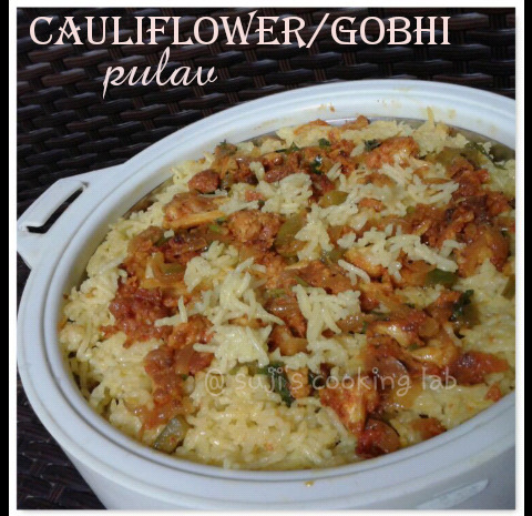 Cauliflower Rice/Gobhi Pulav