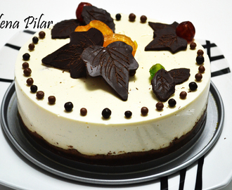 Tarta de Cuajada y Chocolate (Thermomix)