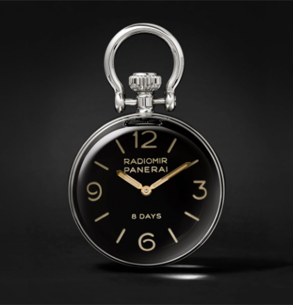 Stainless Steel Table Clock - Black