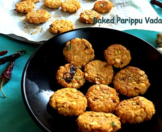 Baked Parippu Vada/ Baked Lentil Fritters