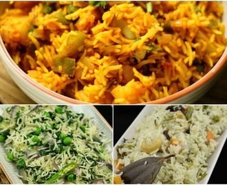 pulao recipes | veg pulav recipes | vegetarian pulao recipes