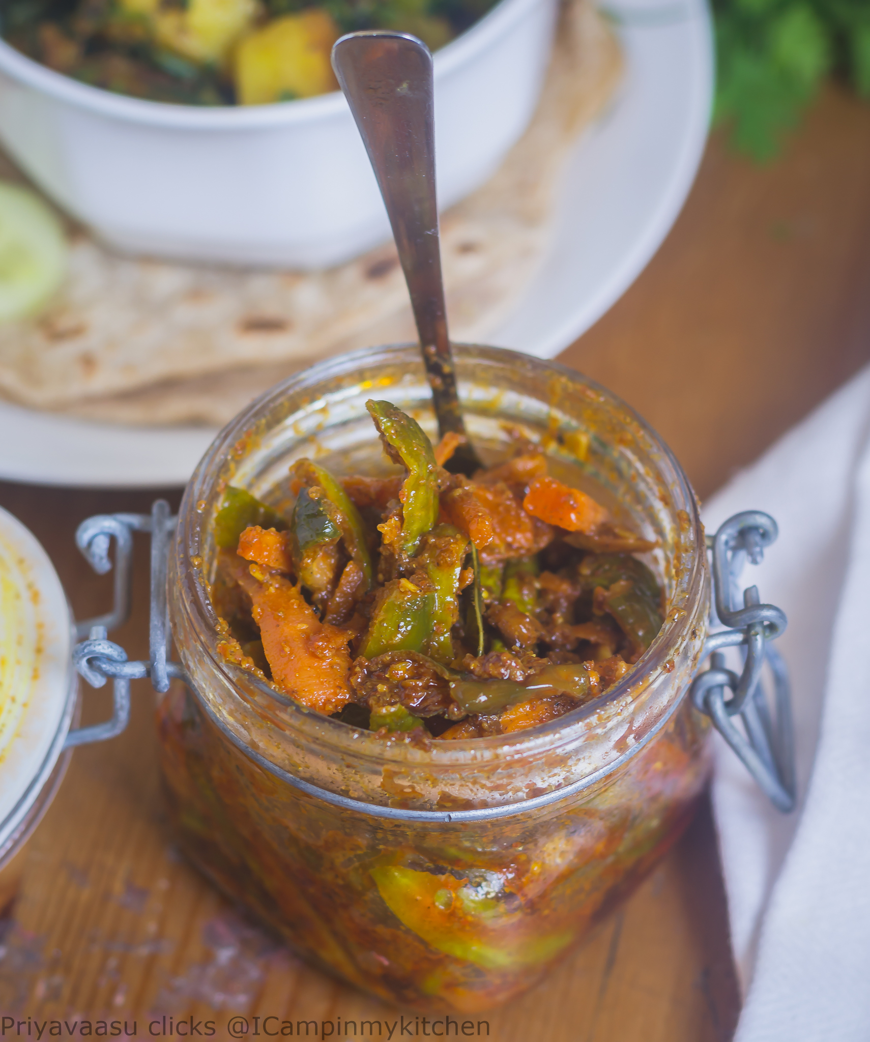 Tindora & Carrot Pickle - Instant Pickle - Condiment Recipe