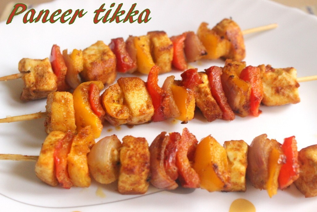 Paneer tikka recipe – How to make paneer tikka dry recipe – paneer tikka on tawa