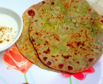 Mixed veg Parathas ( cabbage, fenugreek , green peas and potatoes )