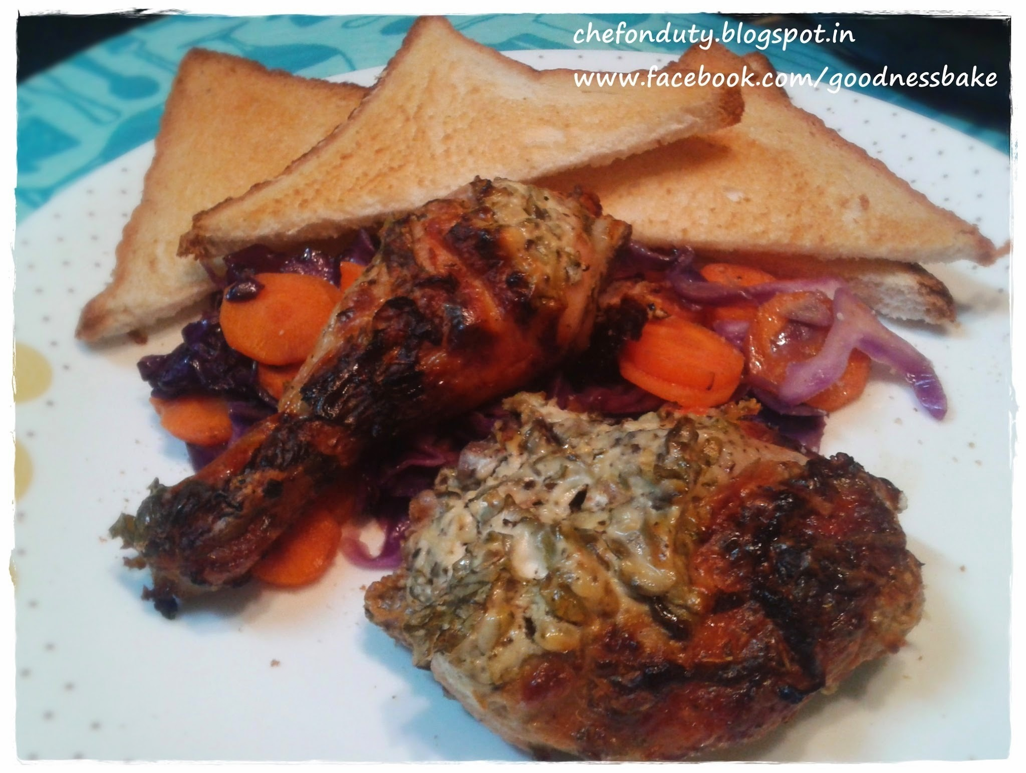 Baked Chicken with Yogurt and Herb Marinade