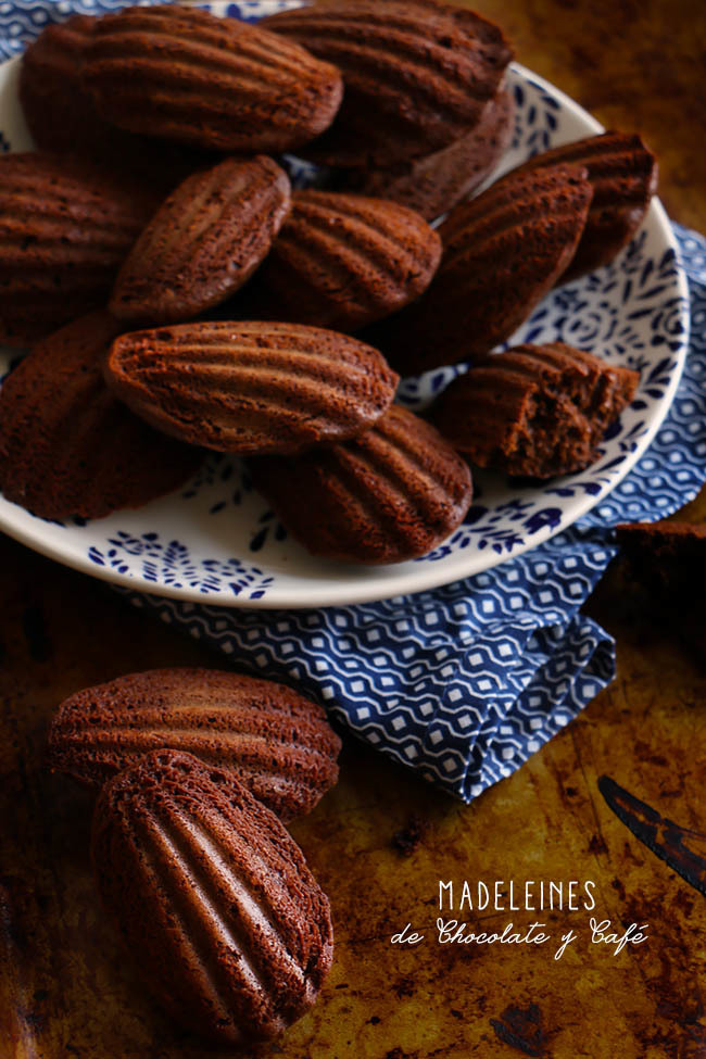 French Madeleines de Chocolate y Café