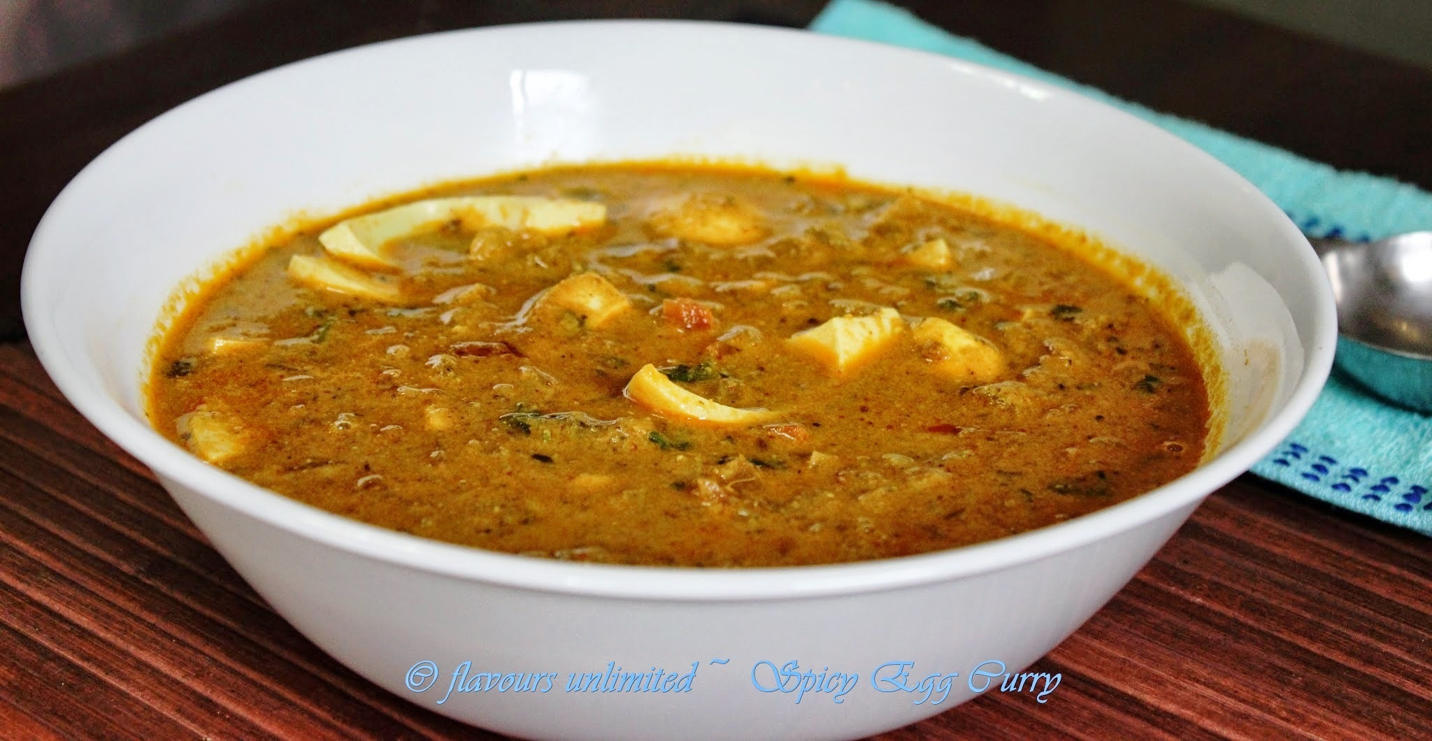 Egg Curry Cooked in Spicy Coconut and Poppy Seeds Paste