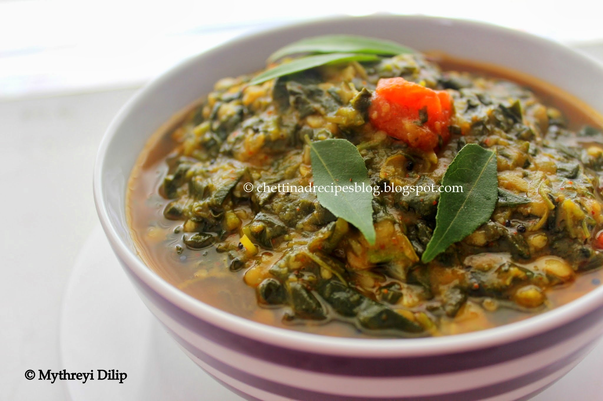 Keerai Kootu / Chettinad Dal and Spinach