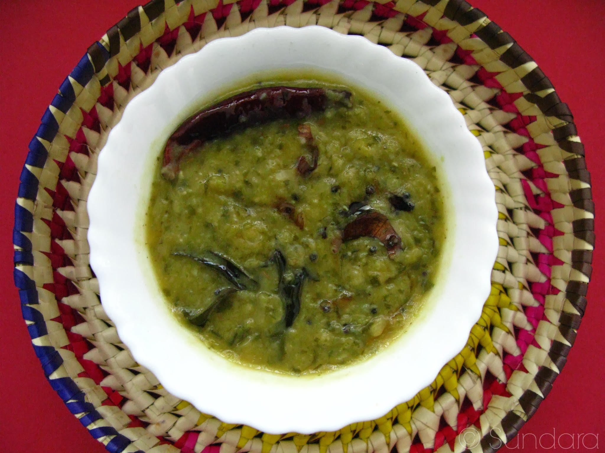 Paruppu Keerai Kootu ~ Purslane leaves with  pigeon pea