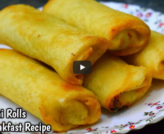 Dahi Veg Roll Recipe Video