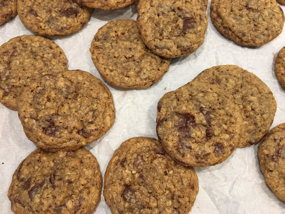 Rice Krispie Havre Chocolate Chip Cookies