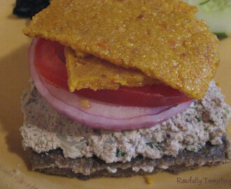 """Tuna-less"" Melt on ""Rye"" Bread"