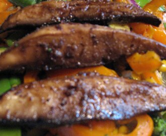 Marinated Portobello Mushrooms - Filet Mignon