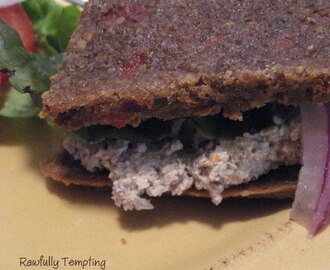 Sprouted Kamut  - Sausage and Pepper Bread With Walnut Pate