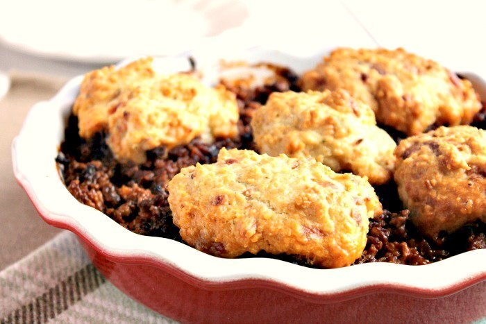 Family Favourite Minced Beef Cobbler