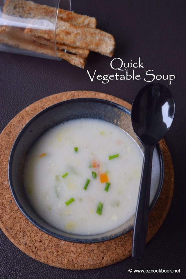Quick Vegetable Soup - Healthy Kids after School Snack Recipe