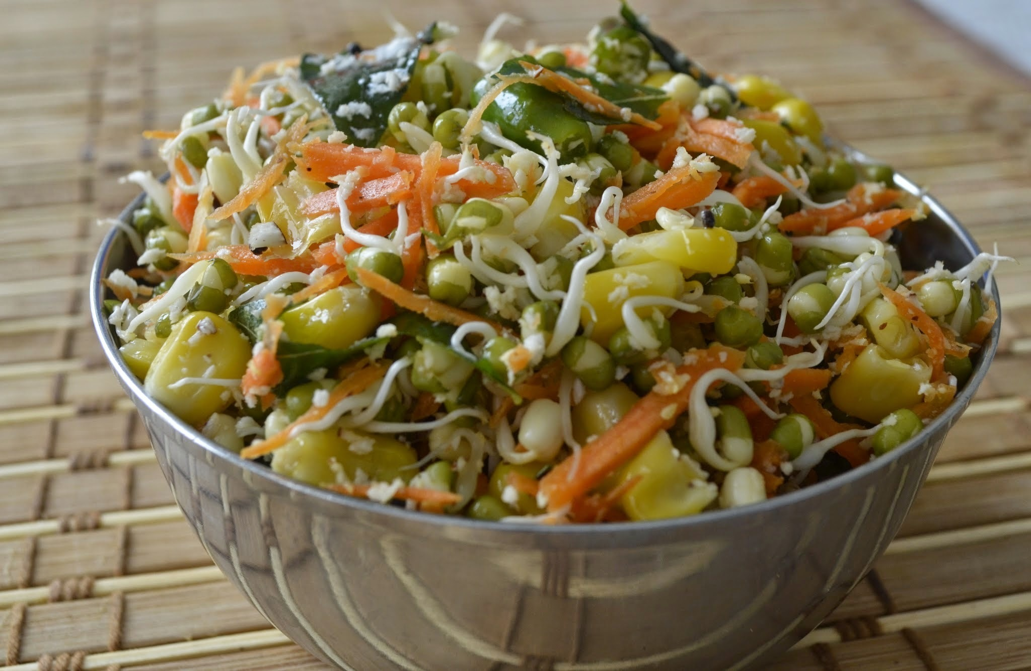 Sprouted Moong - Corn Salad