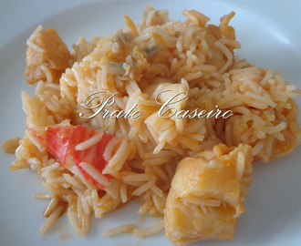 Arroz de tamboril com berbigão e delícias do mar