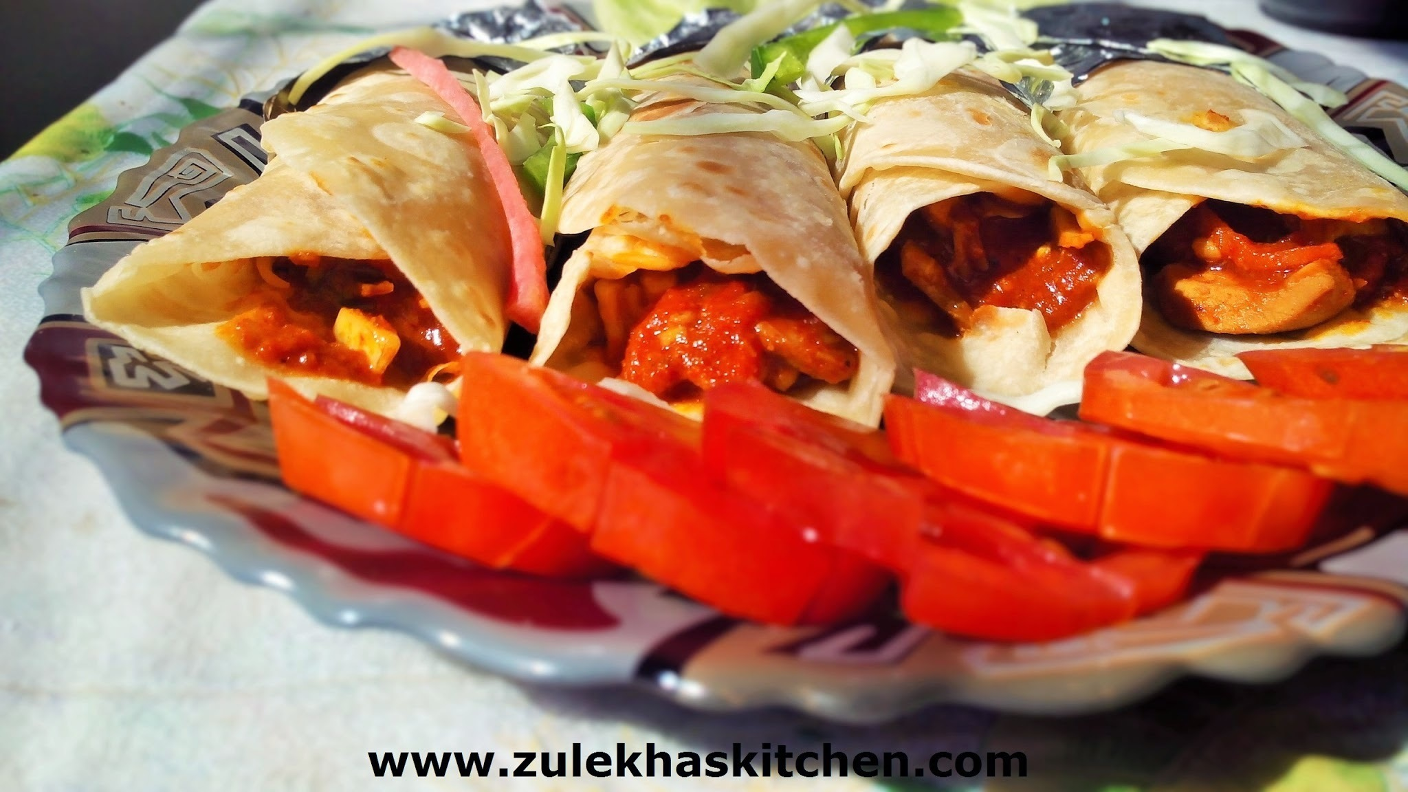 Recipe of chicken wraps / wraps and rolls