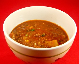 SOPA DE VEGETALES Y CARNE DE RES (BEEF VEGETABLE SOUP)