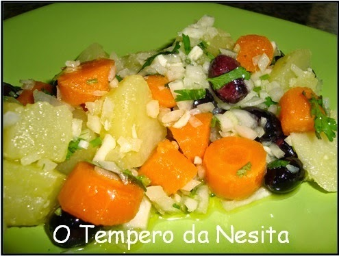 Salada de Batata Colorida