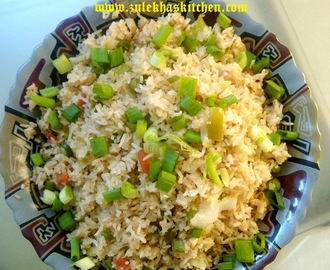 Chinese triple fried rice recipes mytaste how to make fried rice ccuart Choice Image