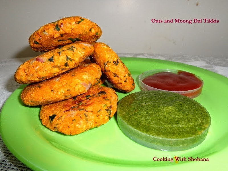 OATS AND MOONG DAL TIKKIS