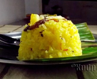 Pineapple Keshar Bhaat(Pineapple Rice Pudding/Zarda)