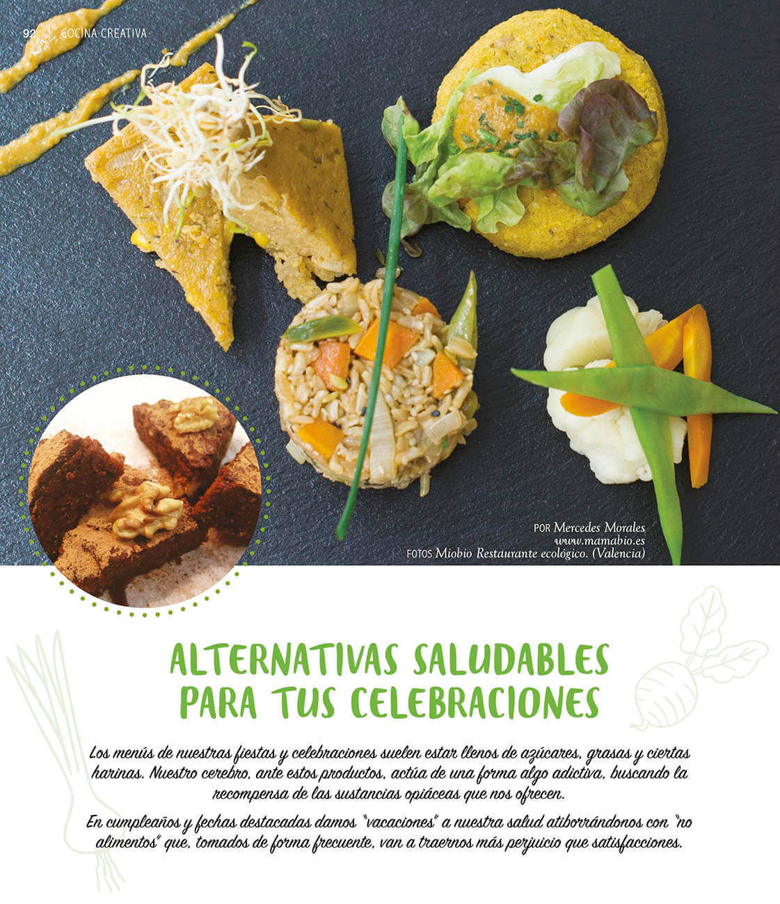 Alternativas saludables para celebrar