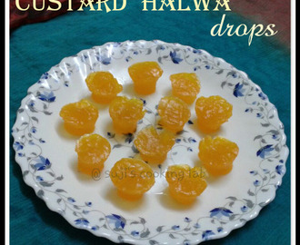 Custard Halwa Drops - microwave version