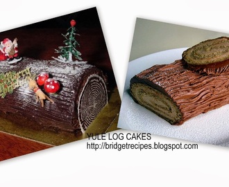 CHOCOLATE YULE LOG CAKE: GUEST POST BY BRIDGET WHITE KUMAR