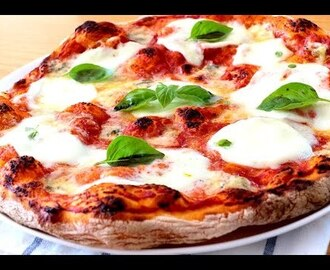 Auténtica pizza italiana. Masa de pizza ¡Sin amasar! Salsa de pizza. Horneado. - YouTube