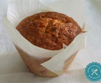 World Baking Day / Queques de coco e frutos vermelhos / Coconut and red berries muffins