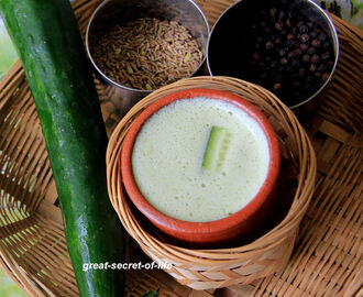 Cucumber oats buttermilk smoothie - breakfast smoothie recipe - healthy breakfast recipe