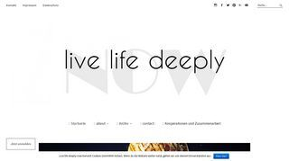 live life deeply-now