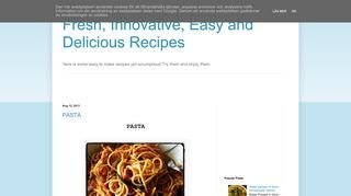 Fresh, Innovative, Easy and Delicious Recipes
