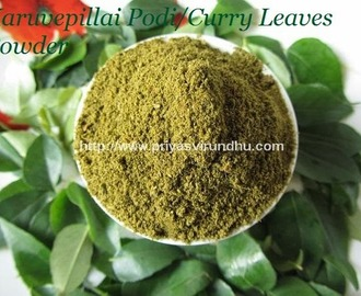 Karuvepillai Podi/Curry Leaves Powder