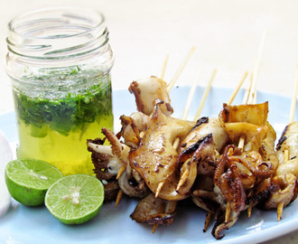 Thai Grilled Squid with Green Sauce