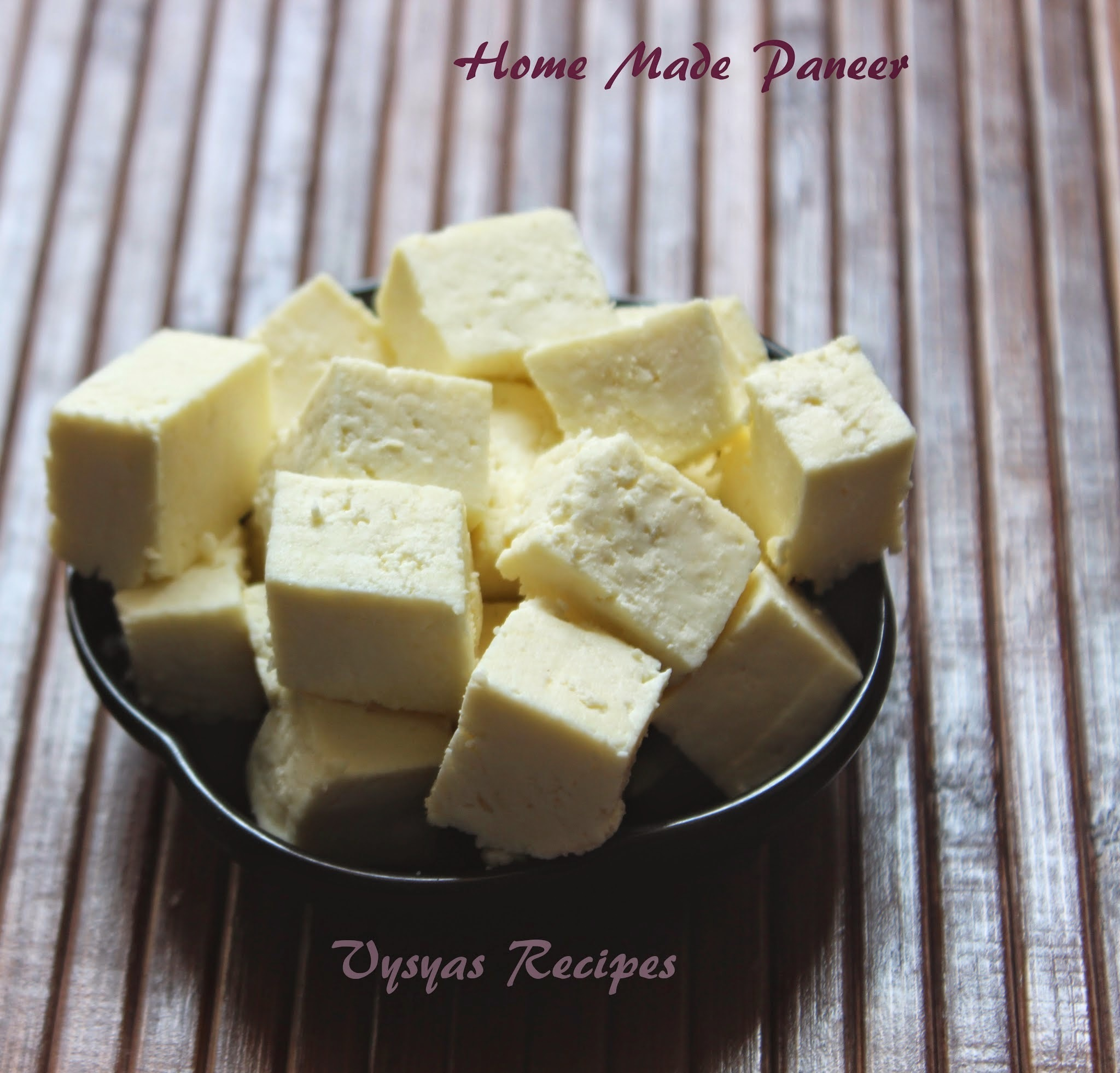 Home made Soft  Paneer - How to make Paneer or Cottage Cheese - With Step Wise Pictures