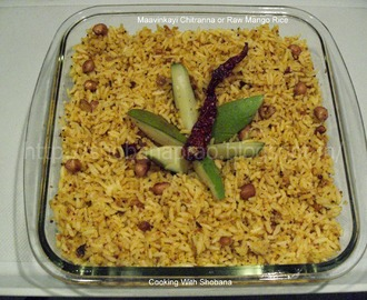 MAAVINKAYI CHITRANNA OR RAW MANGO RICE