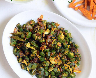 Vendakkai Poriyal/Okra Stir Fry Recipe-Lady's Finger Recipes