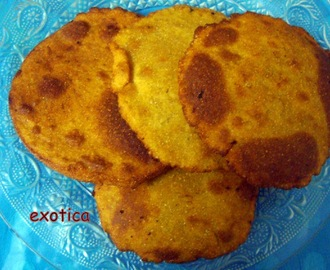 Reddish Stuffed Maize Flour Fried Bread ' Bharwa Makki ki kachori'