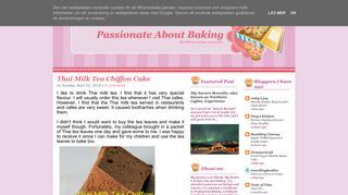 Passionate About Baking