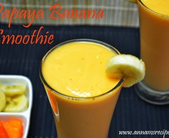 Papaya Banana Smoothie