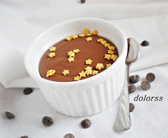 Postre ligero: Natillas de chocolate