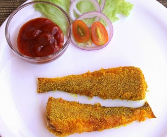 LadyFish Fish Fry | Silver Whitting Fish Fry | Muddoshi Rava Fry | Fish Fry | Goan Recipes