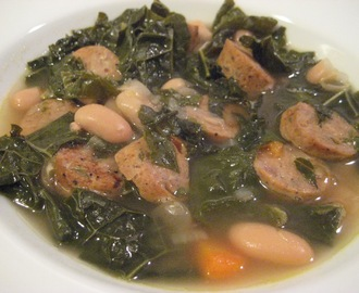 Kale, White Bean and Chicken Sausage Soup