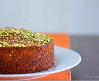 Pistachio-Yogurt Cake - Guest Post by Moumita Chatterjee