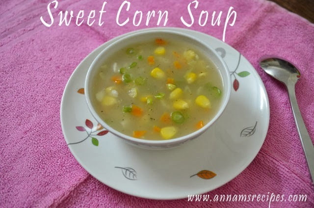 Sweet Corn Soup or Sweet Corn Veg Soup